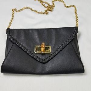 Apt 9 black purse with gold shoulder chain